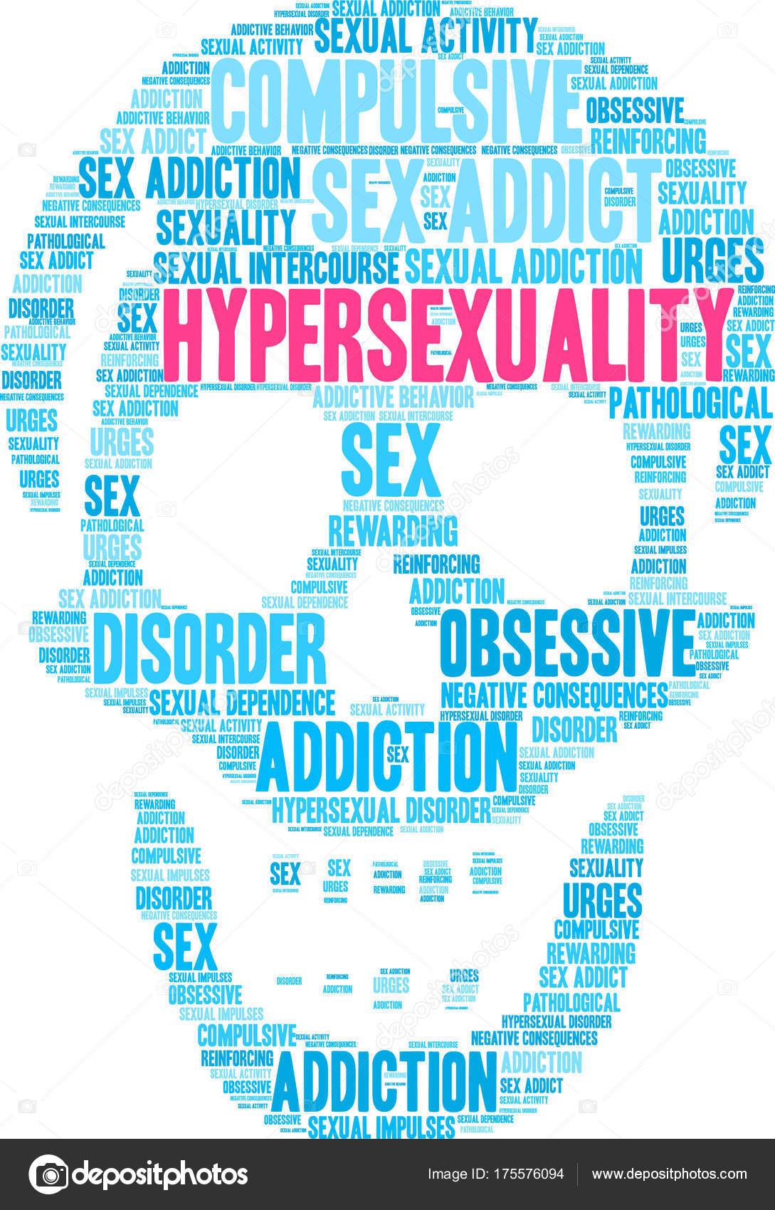 Hypersexuality Word Cloud — Stock Vector