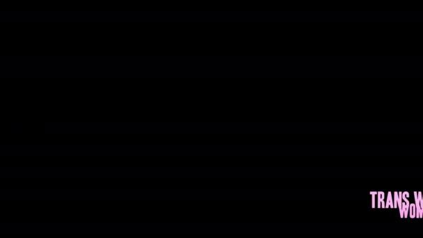 Práva žen slovo mrak na černém pozadí.