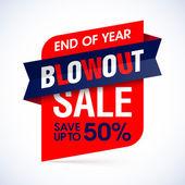 Fotografie Ende des Jahres Blowout Sale banner
