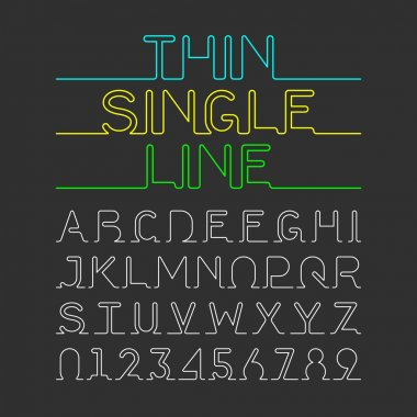 single line font set