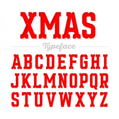 Christmas letters fonts set