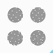 Fingerabdruck-Erkennung-Symbole
