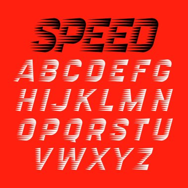 Speed style sport font set
