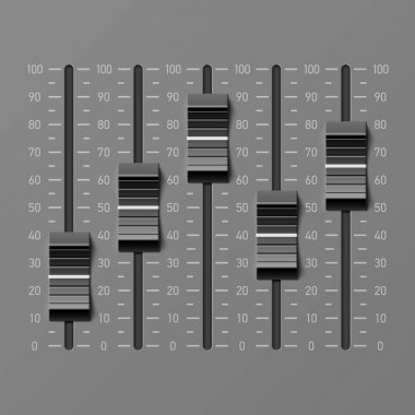 Sound mixer dj console