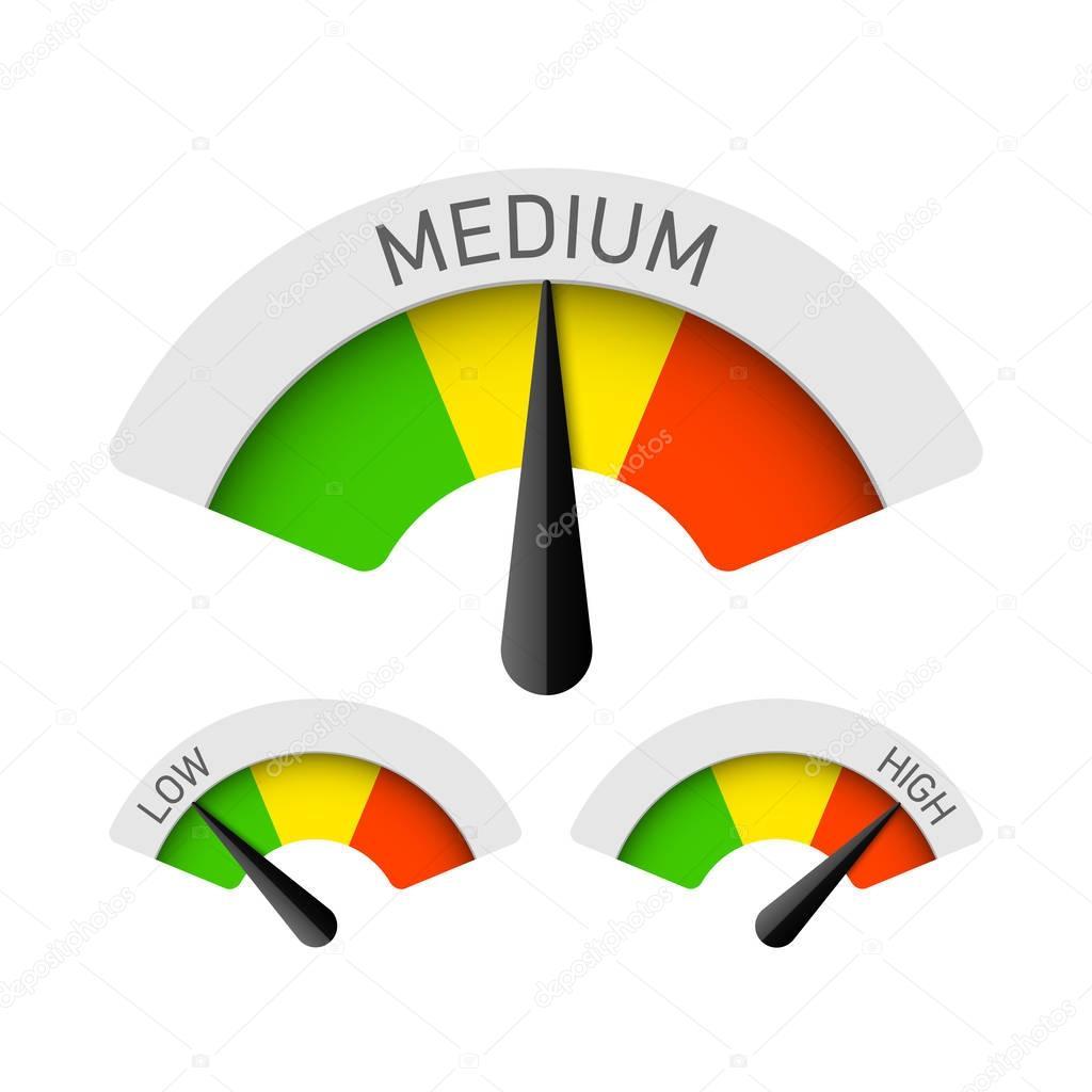 Low, Medium and High gauges set