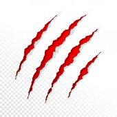 Fotografia graffi di artigli rossi