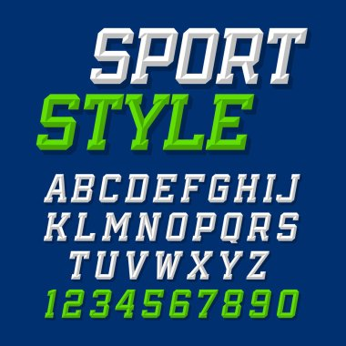 Sport style uppercase font