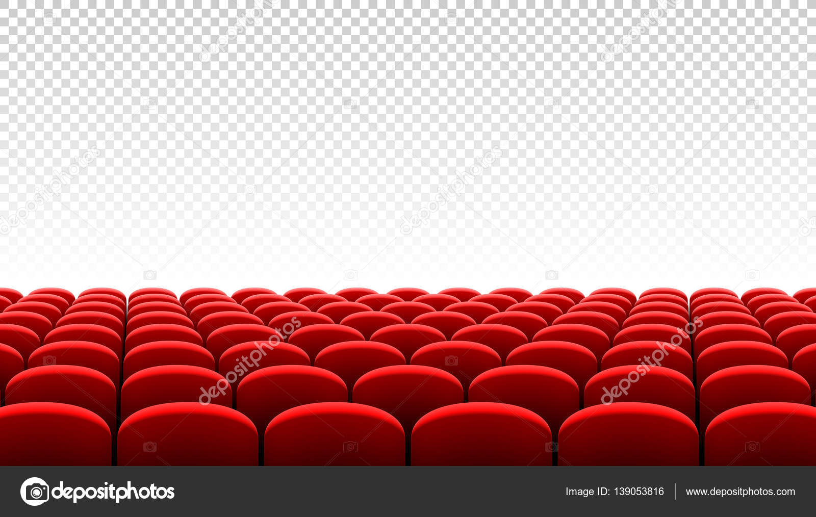 Rows Of Red Cinema Chairs U2014 Stock Vector #139053816