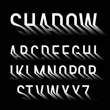 Long shadow alphabet font