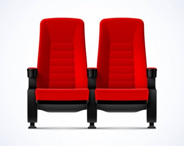 two red cinema chairs