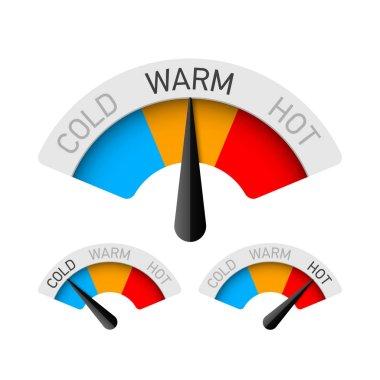 Cold, warm and hot gauges set