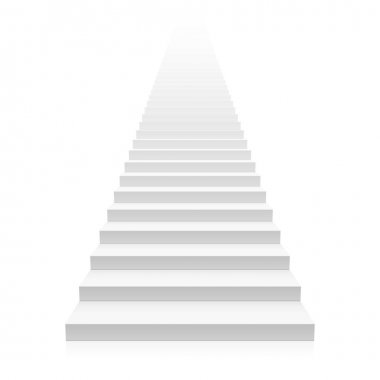 white empty stairs