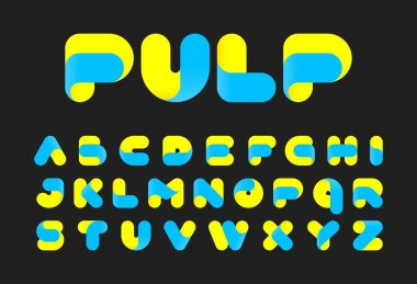 Pulp alphabet font