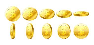 set of golden coins