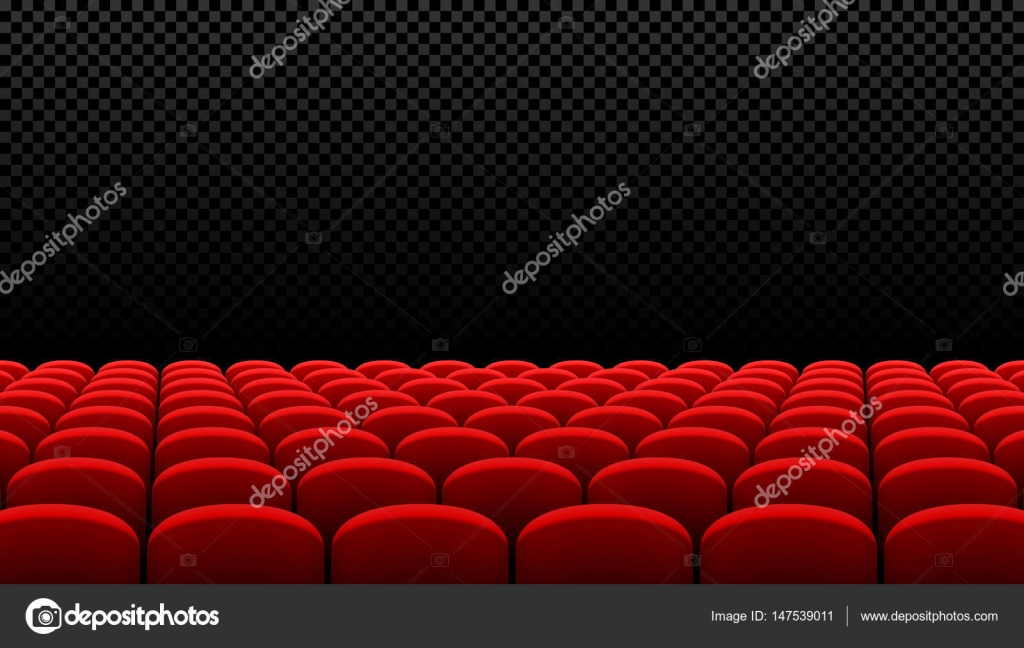 Rows Of Red Cinema Chairs U2014 Stock Vector #147539011
