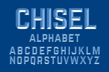 Chisel style font