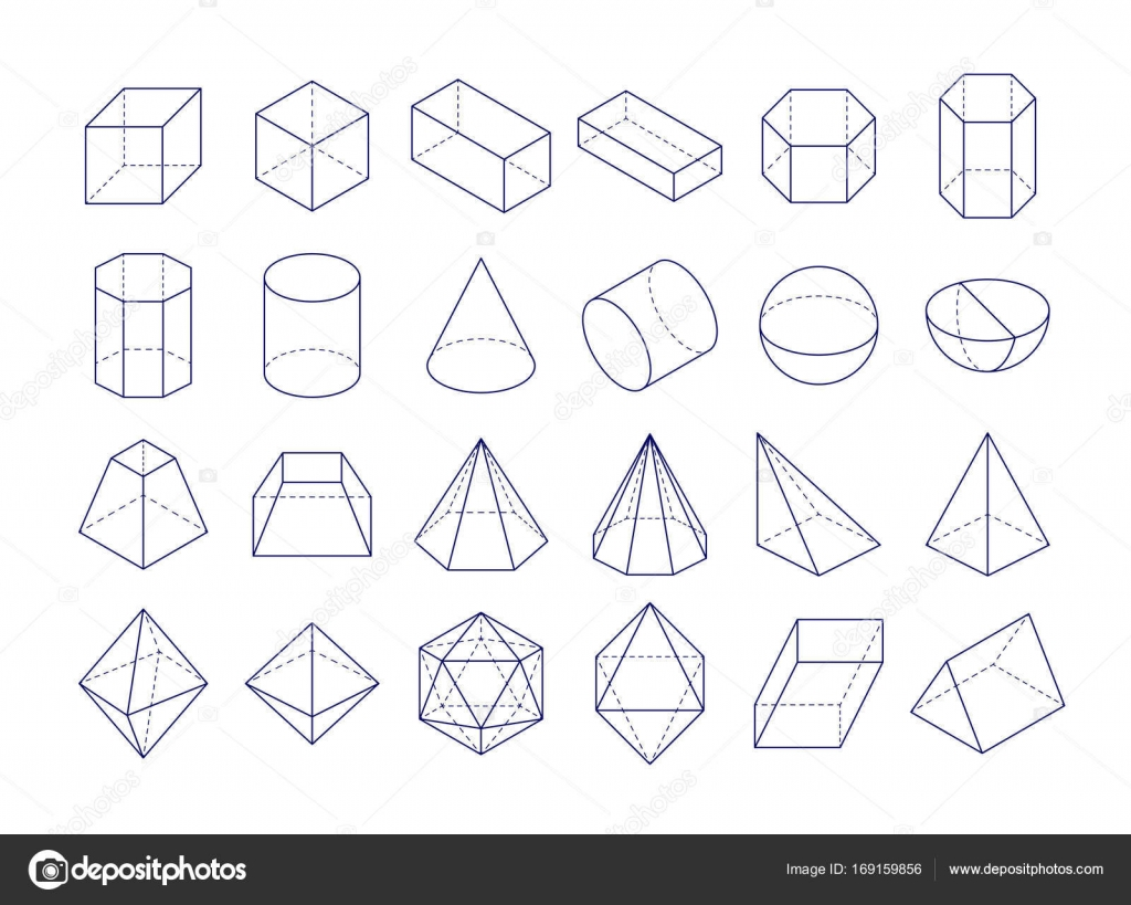 3d geometric shapes — stock vector © alhovik #169159856