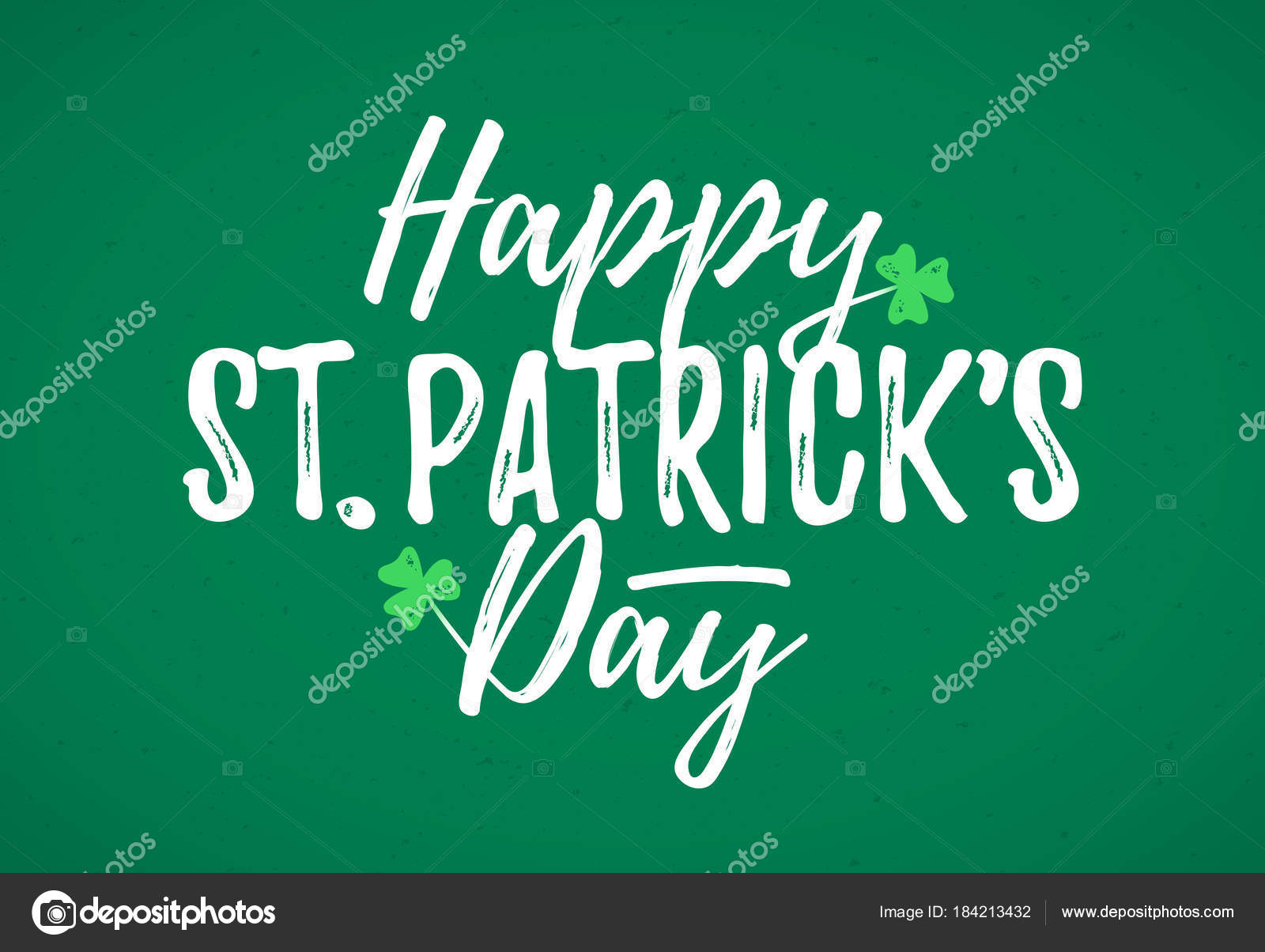 St patricks day greeting card stock vector alhovik 184213432 happy st patricks day greeting card 17 march feast of st patrick handdrawn dry brush style lettering vector by alhovik kristyandbryce Choice Image