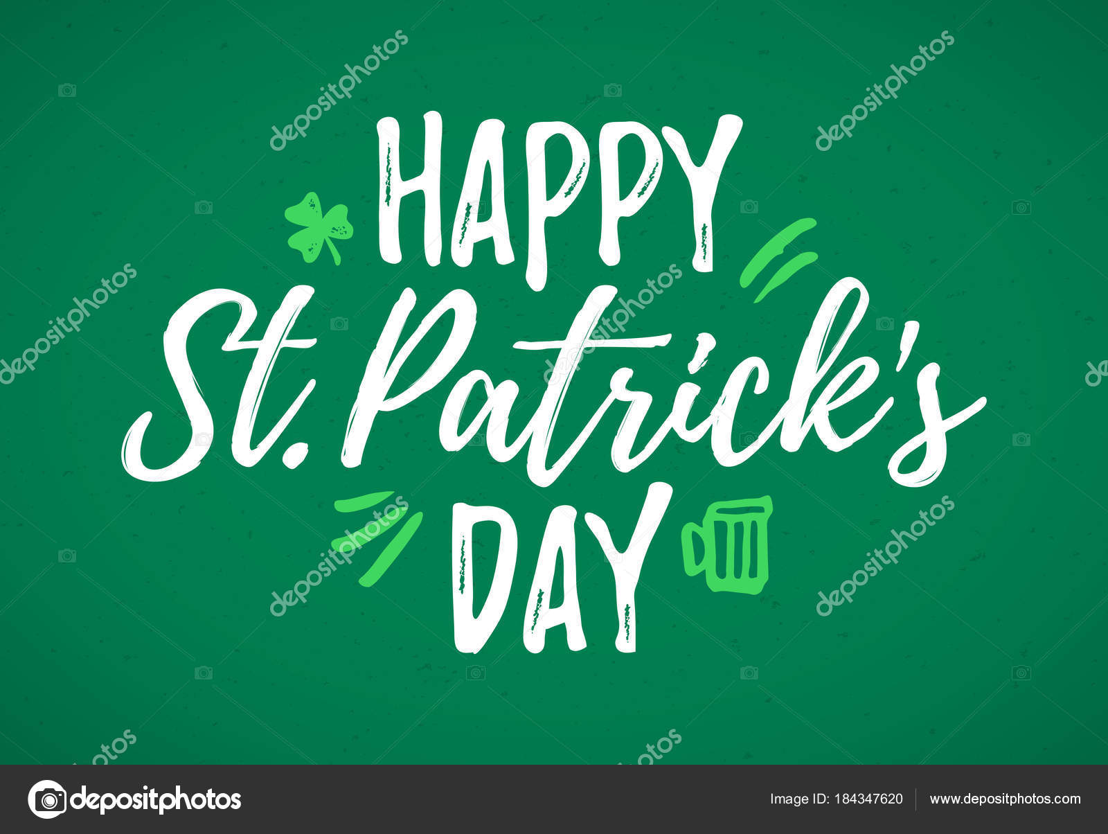 St patricks day greeting card stock vector alhovik 184347620 happy st patricks day greeting card 17 march feast of st patrick handdrawn dry brush style lettering vector by alhovik kristyandbryce Choice Image