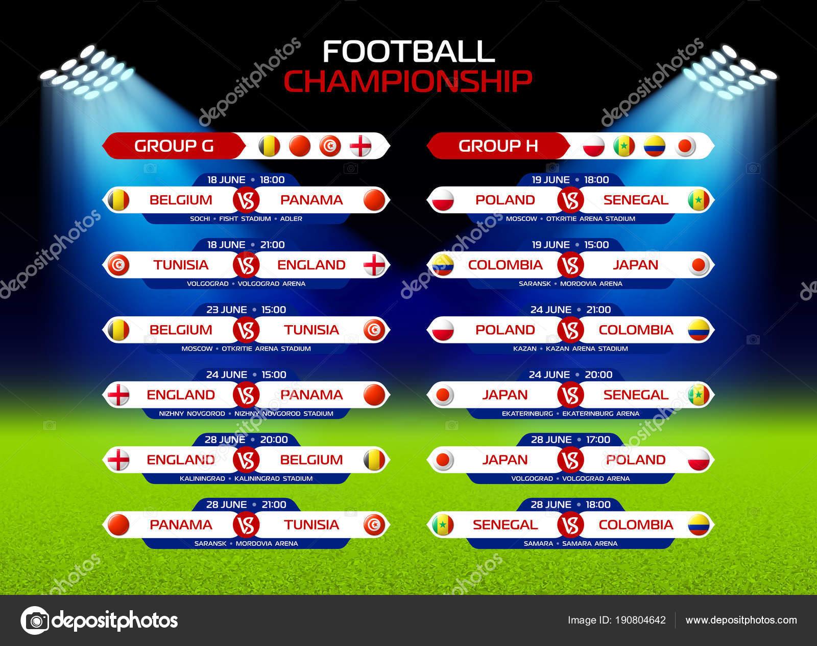 Calendario Campionato Calcio.Campionato Di Calcio Calendario Delle Partite Vettoriali