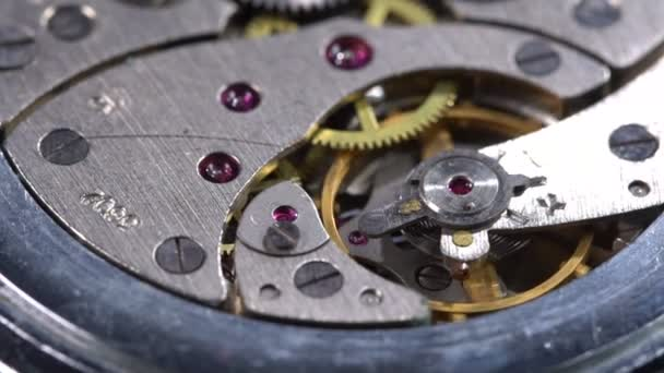 Working mechanism of a pocket watch