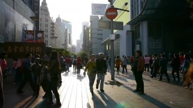 China,shanghai-12 Sep,2016:extremely busy nanjing road,pedestrian mall,Shanghai,China.