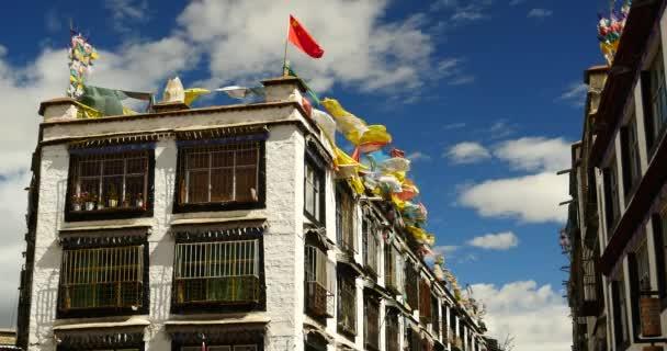 4 k slavné barkhor ulice budova ve Lhase, tibet.