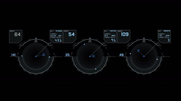 4k Radar GPS signal tech screen display,science sci-fi data computer  navigation