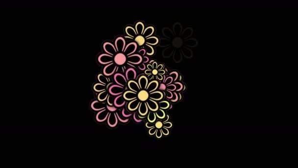 4k Wild daisy flower petals,spring plant bloom,romance love wedding background.