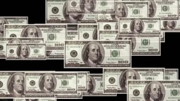 4k Float 100 dollars money wealth background.