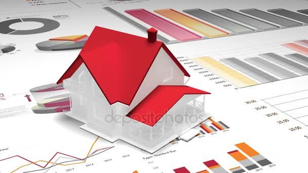 4krotating 3d house model on the finance pie charts business 4krotating 3d house model on the finance pie charts business trend diagrams ccuart Gallery