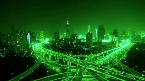časová prodleva dálnici jam těžké dopravní špičce pro rušné město v noci