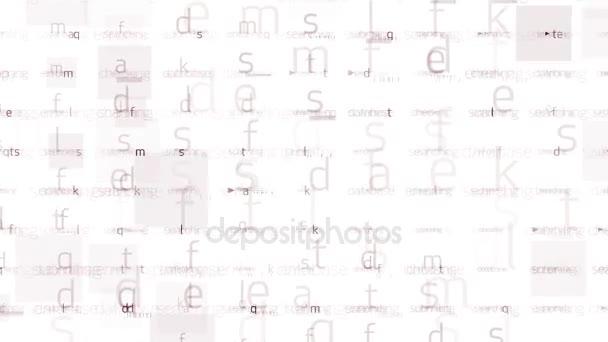4 k abecedě znak matice pozadí, vstupní hledaný dopis, ukládání Big dat