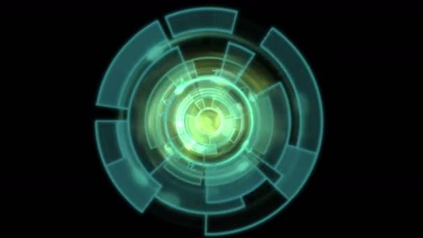 4 k rotaci tech Gps pozadí, software s panelem  modrý blesk.
