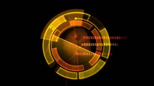 4k Fingerprint identity scan password,spy hacker search Gene sequencing  tech