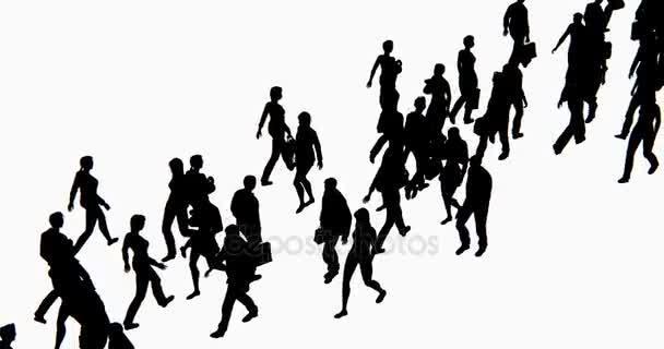 4 k folla di gente a piedi, la sagoma di uomo daffari