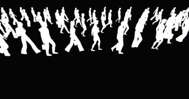 Multitud De Gente Silueta: 4 K Multitud De Personas Caminando, Silueta De Hombre De