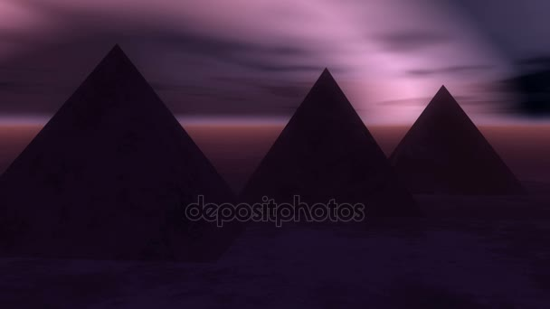 4k timelapse of the famous pyramid in Egypt at night.