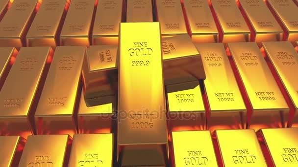 4k Gold bullion zlato pruhy pokladny bohatství financí ingotu luxusní zboží obchodování.