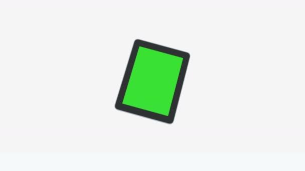 4k 3d Ipad prezentace Tablet počítač dotykové obrazovky zelená obrazovka