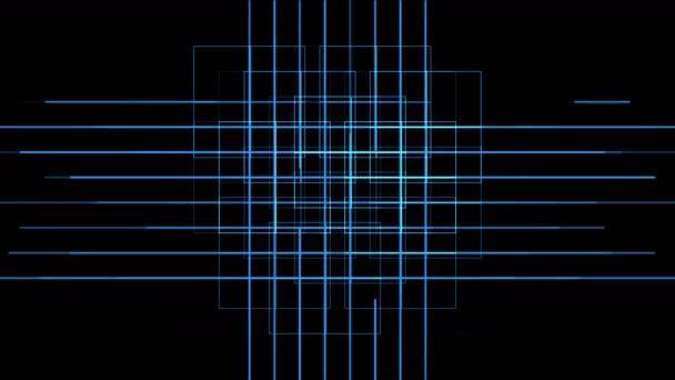 4k Virtual electric circuit,science tech lines,matrix weave particle background