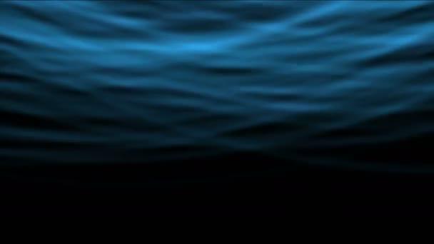 4k abstrakte blaue Welle Kurvenrhythmus Hintergrund, Unterwasser.