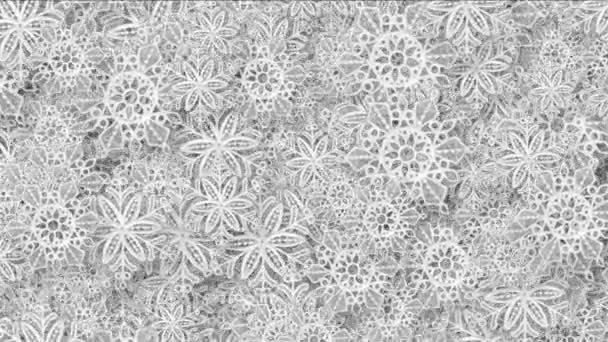 4 k vločka sněhová vánoční květina design vzor pozadí.