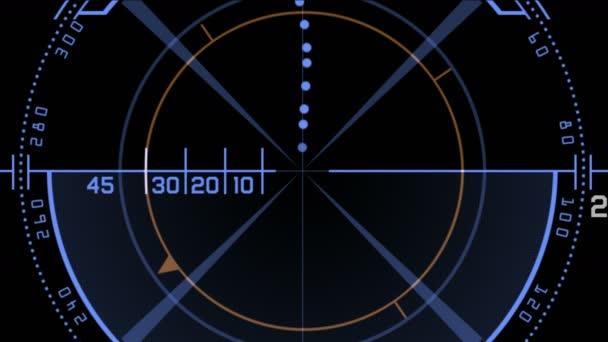 4 k Radar Gps jel tech képernyő bemutatás, science sci-fi adatok számítógépes navigáció szolgálatában