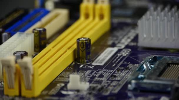 a számítógép alaplapján, elektronikus áramköri.