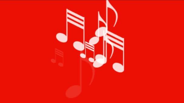 4k Musik Noten Hintergrund, Symbol Melodie Melodie Klang, romantische künstlerische Symphonie