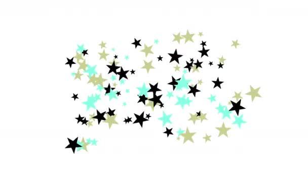 4 k csillagok részecske háttér, Amerikai Egyesült Államok amerikai zászló ötágú csillag.