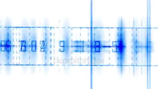 4k Business Digital Matrix Light Character,fire Cross Rays Lines Number  Coding. U2014 Stock