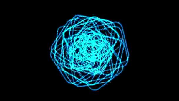 4 k blau Swril elektrischen Draht im Raum — Stockvideo © happypuss ...
