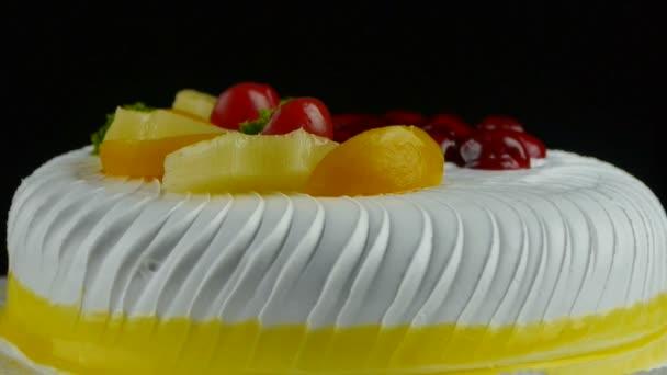 delicious fruit cake,cherry,tomato,pineapple.
